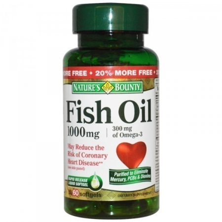 Омега Nature's Bounty - Fish Oil 1000 мг (60 капсул)