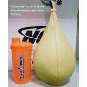 Боксерская груша-капля малая (натуральная кожа, 40 см на 21 см)