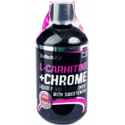 Карнитин BioTech - L-Carnitine + Chrome concentrate (500 мл) [grapefruit/грейпфрут]