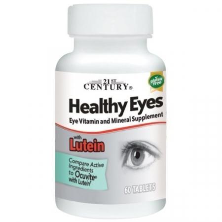 Улучшение зрения 21-st Century - Healthy Eyes with Lutein (60 таблеток)