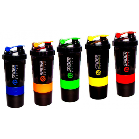 Шейкер Mini2GO Spider Bottle 500 ml + 2 контейнера (разные цвета)