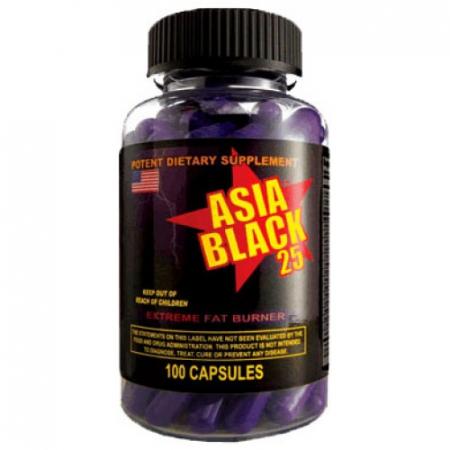 Жиросжигатель Cloma Pharma - Asia Black 25 Ephedra (100 капсул)