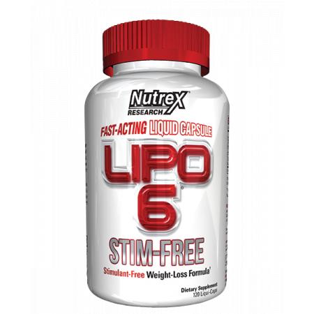 Lipo-6 Stim-Free Nutrex Research 120 liquid caps.