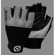 Перчатки кожаные Scitec Nutrition - Grey Style (S) [grey-black/серый-черный]