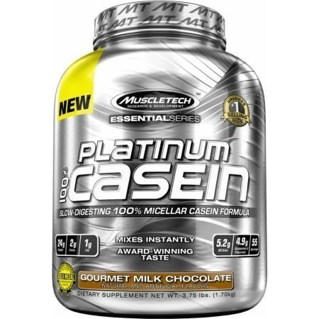 100% Platinum Casein MuscleTech 1800 грамм