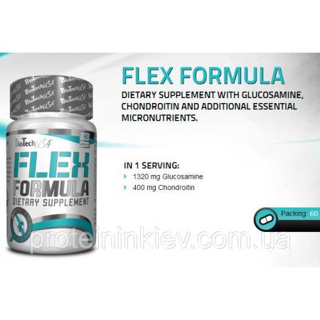 Flex Formula Glucosamine and Chondroitin BioTech USA 60 caps.