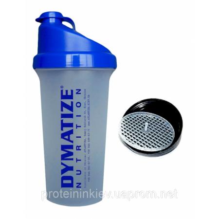 Шейкер Dymatize Nutrition (700 мл) [прозрачный, синяя крышка]