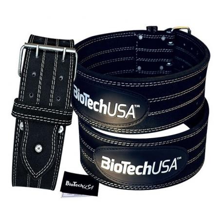 Пояс кожаный атлетический BioTech - Power Belt Austin 3 (XL) [Черный]