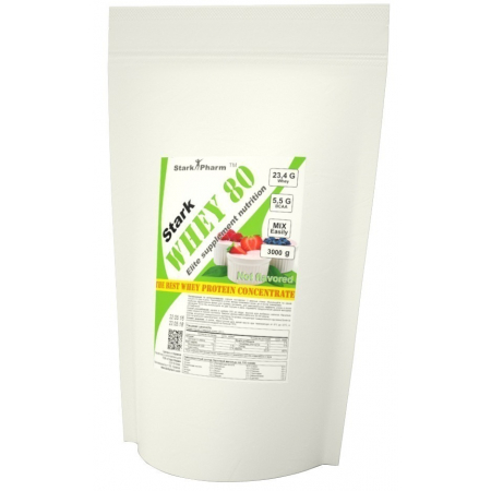Сывороточный протеин Stark Pharm - Stark Whey 80 без ароматизаторов 3000 грамм
