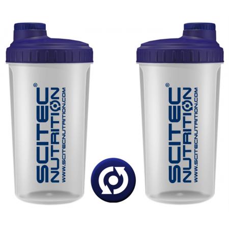 Шейкер Scitec Nutrition (700 мл) [прозрачный, синяя крышка]