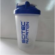 Шейкер Scitec Nutrition - с шариком (600 мл) [прозрачный с синей крышкой]