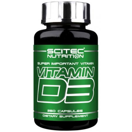 Витамин Scitec Nutrition - Vitamin D3 (250 капсул)