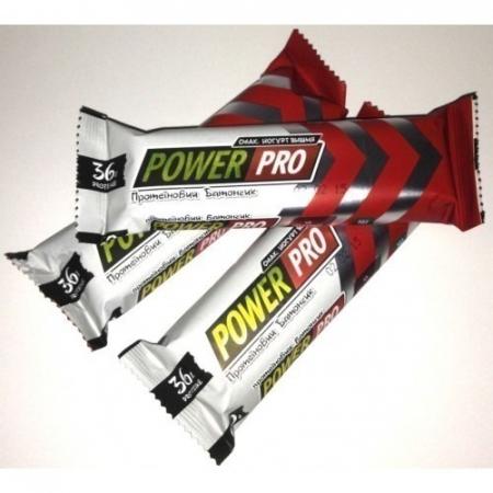 Протеиновый батончик 36% йогурт-вишня Power Pro 60 грамм