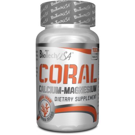Минералы кальций и магний BioTech - Coral Calcium-Magnesium (100 таблеток)