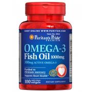 Омега Puritan`s Pride - Omega 3 Fish Oil 1000 мг