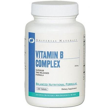 Vitamin B Complex Universal Nutrition 100 tabs.