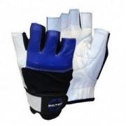 Перчатки кожаные Scitec Nutrition - Blue Style