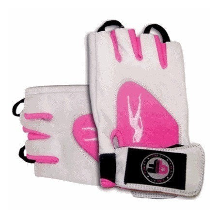 Biotech USA Lady 1 Gloves Leather White-Pink кожаные перчатки
