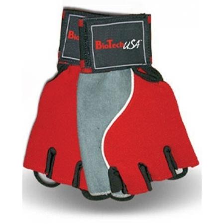 Memphis 2 BioTech USA Красно-серые перчатки для спортзала