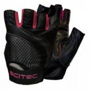 Перчатки кожаные Scitec Nutrition - Pink Style (S) [black-pink/черный-розовый]