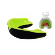 Капа боксерская PowerPlay - 3314 JR [light green-black/салатово-черный]