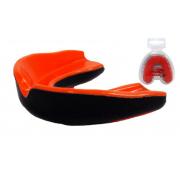 Капа боксерская PowerPlay - 3315 SR [orange-black/оранжево-черный]