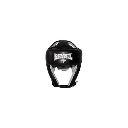 Тренировочный шлем Reyvel черный (кожа)