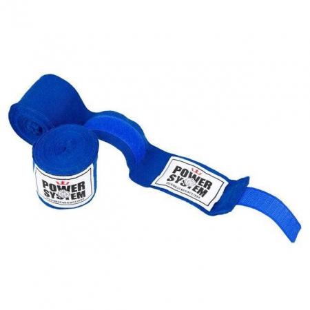 Бинты боксерские Power System - PS-3404 (4 м) синие