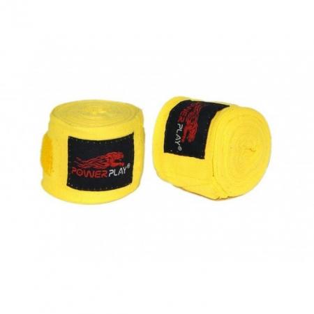 Бинты боксерские PowerPlay - PP 3046 (4 м) желтые