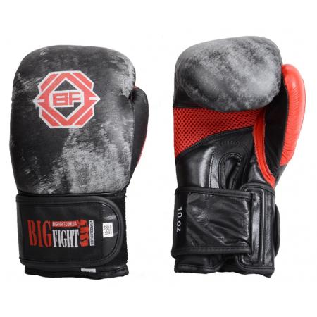 Боксерские перчатки Silver BigFight (кожа)