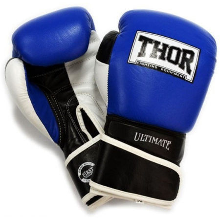 Перчатки боксерские Thor - Ultimate 551/03 B/B/W (10 унций) (кожа)
