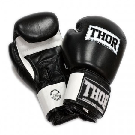 Перчатки боксерские Thor - Sparring 558 (PU) BLK/WH (14 oz)