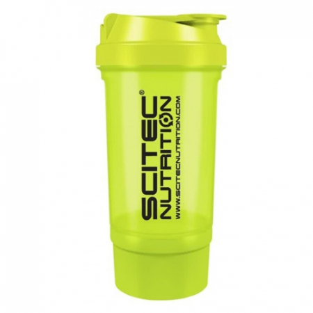 Шейкер Scitec Nutrition Treveller +1 контейнер 500 мл bright green/салатовый