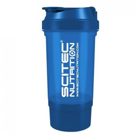 Шейкер Scitec Nutrition Treveller +1 контейнер 500 мл dark blue/синий