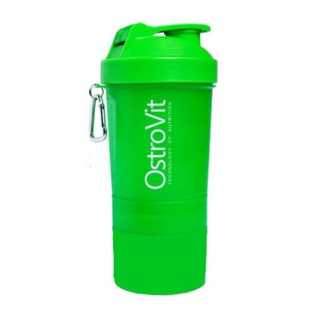Шейкер Ostrovit Neon 400 мл + 2 контейнера зеленый/green
