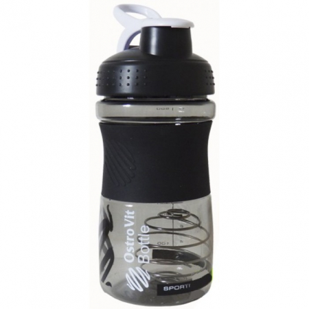 Шейкер OstroVit Bottle Sportmixer 500 ml black/черный