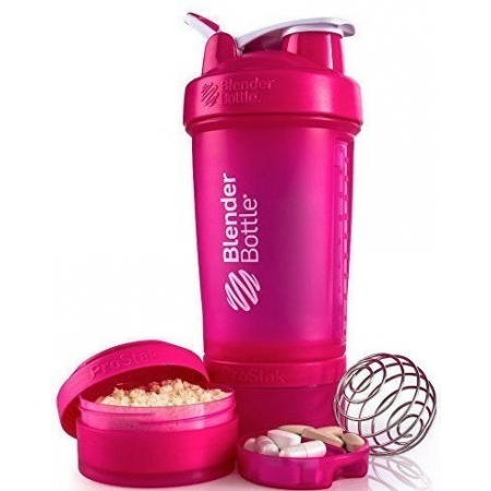 Шейкер BlenderBottle ProStak розовый 22 oz / 650 мл