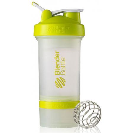 Шейкер BlenderBottle ProStak 16 oz/450 ml 3, 450 мл, прозрачный с салатовой крышкой/transparent with bright green cap