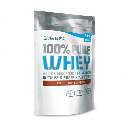 BioTech - 100% Pure Whey (454 гр) [bourbon-vanilla/бурбон-ваниль] (п 28 г)