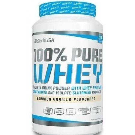 BioTech - 100% Pure Whey (908 гр) [cookies-cream/печенье-сливки] (п 28 г)