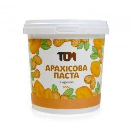 Арахисовая паста ТОМ - С курагой (500 гр)