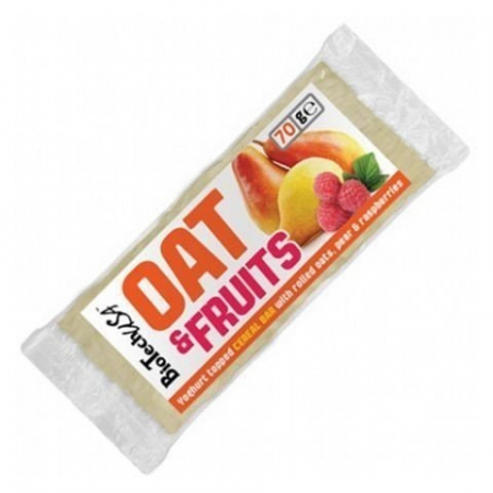 Батончик BioTech - Oat & Fruits (70г) груша и малиновый йогурт