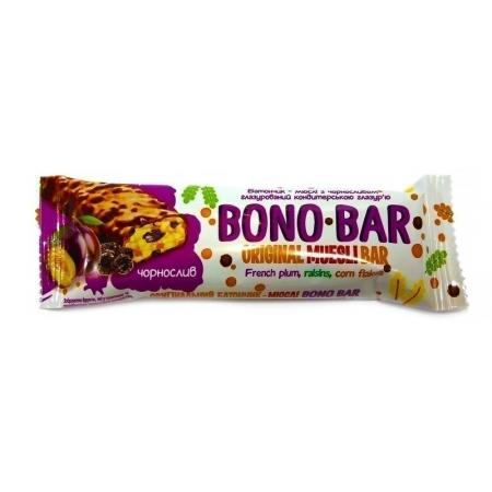 Злаковый батончик Bono Bar - Original Muesli Bar (40 грамм) french plum/чернослив