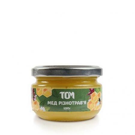 Мед натуральный ТОМ - Разнотравье (100 грамм)