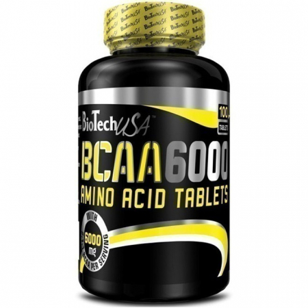 Аминокислоты BioTech - BCAA 6000 (100 таблеток)