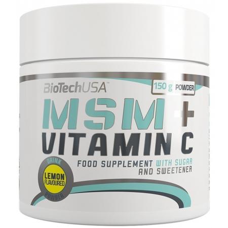 Хондропротектор BioTech - MSM + Vitamin C (150 грамм)