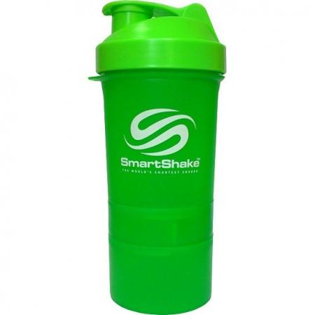 Шейкер SmartShake Neon 400 мл + 2 контейнера зеленый/green