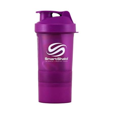 Шейкер SmartShake Neon 400 мл + 2 контейнера сиреневый/purple