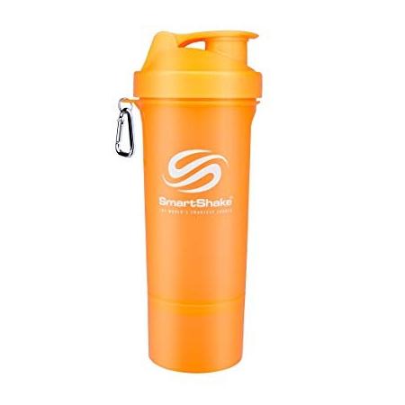 Шейкер SmartShake Slim Neon 400 ml orange/оранжевый