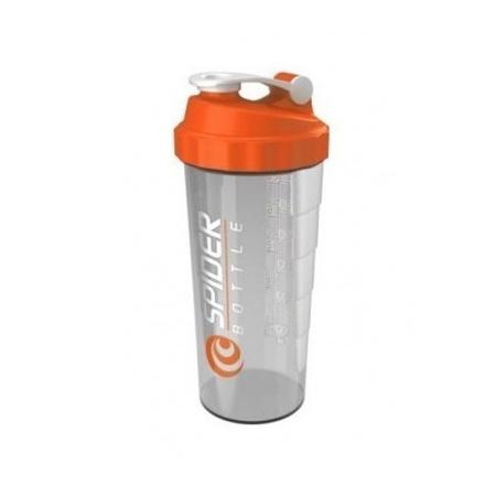 Шейкер Spider Maxi SpiderBottle 800 мл прозрачный с оранжевой крышкой/transparent with orange cap